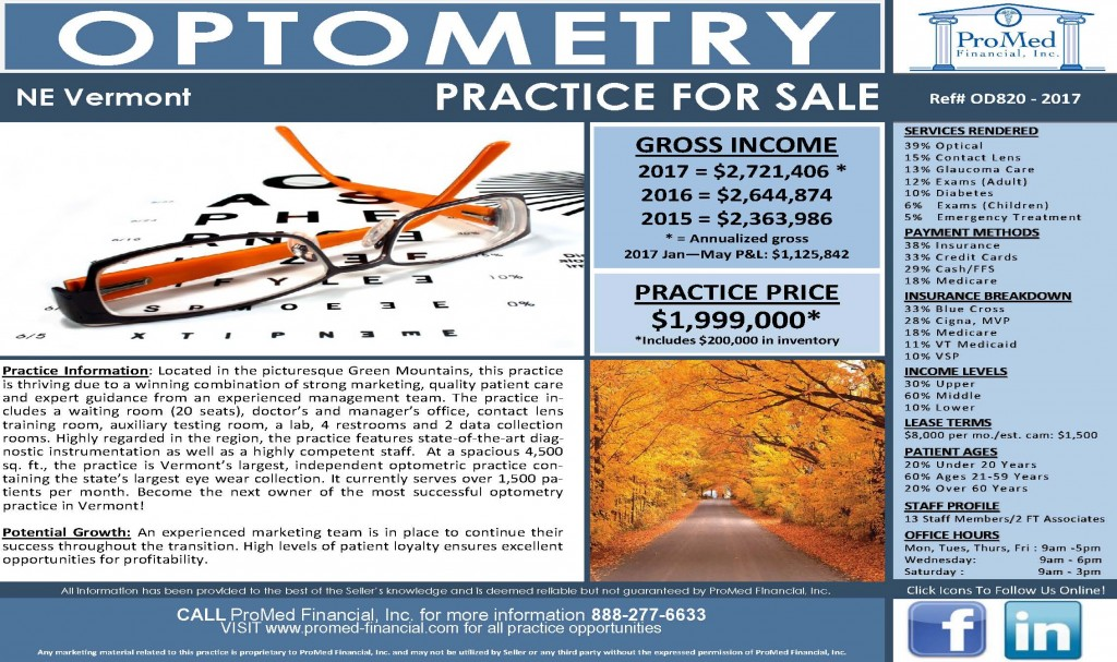 Optometry Practice in Lamoille, Vermont