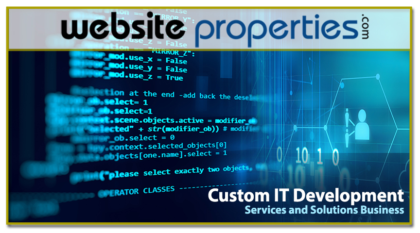 Custom IT Development Srvs and Solutions